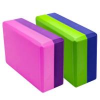 Кирпичик д/йоги полумягкий 2-х цветный 76х152х228мм., из вспенненого ЭВА YGB301-X6