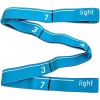 Эспандер эластичная лента 3*92 см (голубая) (с прошитыми петлями для захвата) MRB8011-3
