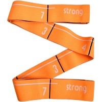 Эспандер эластичная лента 5*92 см (оранжевая) (с прошитыми петлями для захвата) MRB8011-5