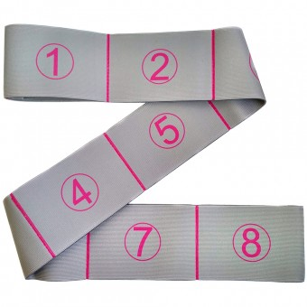 Эспандер эластичная лента 7*92 см (серая) (с прошитыми петлями для захвата) MRB8011-7
