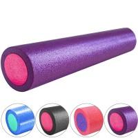 Валик для йоги полнотелый 2-х цветный 60х15см. B31512