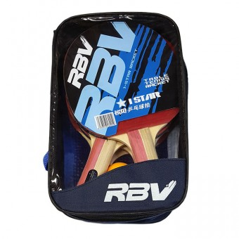 Набор п/п RBV(4 ракетки+3шарика+ усилен сетка в сумке) 1001Н (ЧЕТЫРЕ)