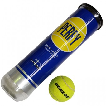 "Мяч б/т ""Dunlop Perry"" (4 шт в тубе) 603011"