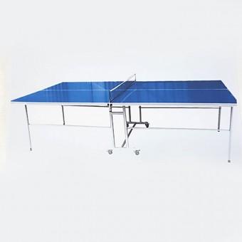 Теннисный стол всепогодныйс сеткой. Игровое поле:композитно-аллюминевая панель.Рама: стальная труба 25мм с полимерным покрытием. Фиксирующие зажимы для ног. Размер длина 274см ширина 153см высота 76см.