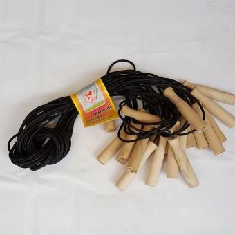 Скакалка 2,8м (резина с деревянными ручками) 10шт/уп (О)