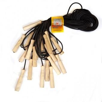 Скакалка 3,8м (резина с деревянными ручками) 10шт/уп (О)