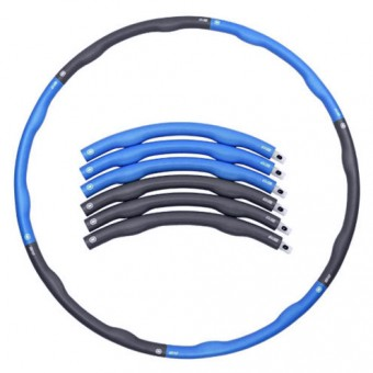 Обруч массаж разб с волнист покрытием изнутри d-100 см. вес 1,2 кг (полимерн покрыт) WH-001