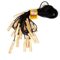 Скакалка 2,5м (резина с деревянными ручками) 10шт/уп (О)