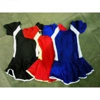 Купальник гимнастический с юбкой двухцветный S.M.L 0703