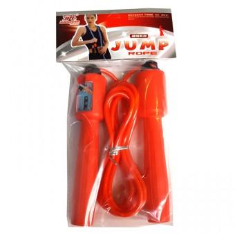 Скакалка со счетчиком (3м, ручки: пластик, шнур: резина) 2513