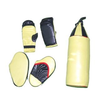 Набор бокс детский (5 предметов) груша+2 перчатки+ 2 лапы