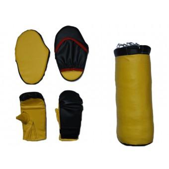 Набор бокс детский (5 предметов) груша+2 перчатки+ 2 лапы (Цепь)