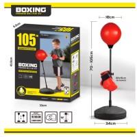 Боксерский набор (груша+перчатки) на стойке HF101