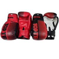 Перчатки бокс Top Ten (10,12унц) цв. красн, черн, полиуретан (Nylex) TN-11А,С Пакистан