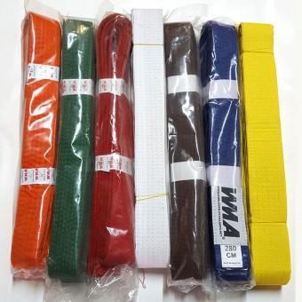 Пояс единоборства ( син, красн,зелен, оранж,желт) 2,4м, 2,6м, 2,8м