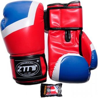 Перчатки бокс PU литой вкладыш (6;8унц) (красно-синии сине-красн) ZTQ 201
