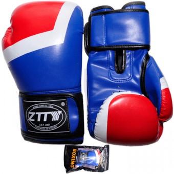 Перчатки бокс PU литой вкладыш (10,12,14унц) (красно-синии сине-красн) ZTQ 201
