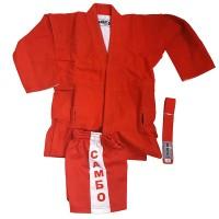 Кимоно самбо с шортами (красн,син.) 130 см