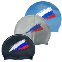 Шапочка д/плавания (силикон) Fluent рис Флаг 007С-1,3