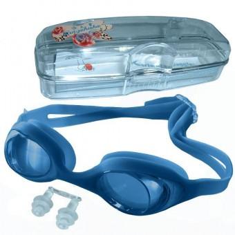 Очки д/плавания детские силикон с бирушами H10064