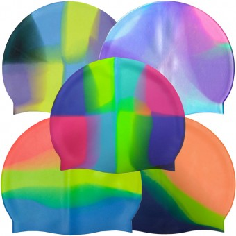 Шапочка д/плавания (силикон) мультиколор МС 701,601,404.409.211.212, 801,1014,107,102.301,403