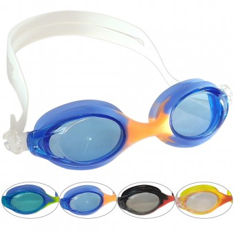 Очки д/плавания FLUENT (антифог,силик.) GS2J