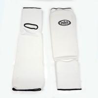 Защита голень-стопа (единоборства белая, черная) XS S M L XL