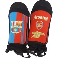 Щитки футбольные жесткие с защитой голени и стопы, подростковые, клубные