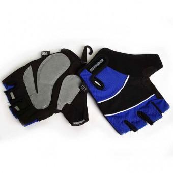 Перчатки б/пальцев т/а синие (GEL) (M/L/XL)